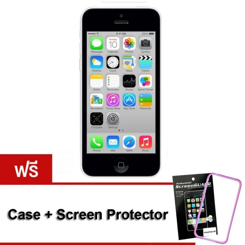 REFURBISHED Apple iPhone5C 16 GB (White) Free Case + Screen Protect
