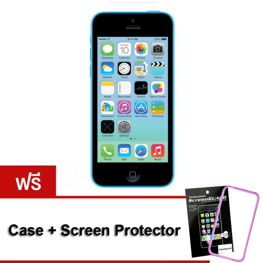 (REFURBISHED)  Apple iPhone5C 32 GB - Blue (Free Case + Screen Protect)
