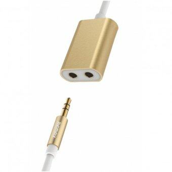 Remax 3.5 AUX Audio Splitter Adapter Cable แปลงสาย 1 ออก 2 RL-S20 (Gold)
