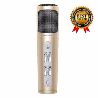 Remaxไมโครโฟน Microphone Karaoke ร้องเพลง คาราโอเกะ สำหรับ iPhone/Android รุ่น K02(Gold)