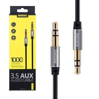 Remax Aux Audio 3.5 1000mm Cable สายยาว 1M (black)