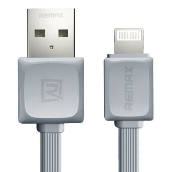 Remax RC-008i Quick Charge and Data Cable สายชาร์จ Lightning foriPhone 5 / 5C / 5S / 6 / 6 Plus / iPad (สีเทา)