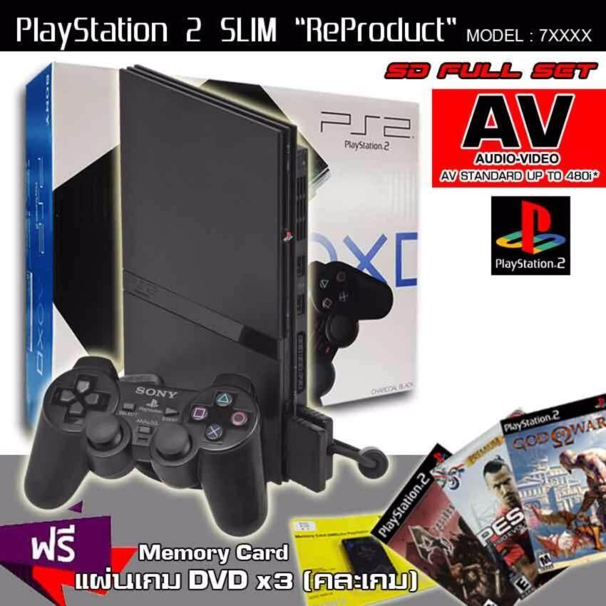 ReProduct Sony Playstation 2 Slim 77006 Funny Set (Black)