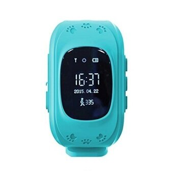 Retro Q50 (Malaysia OLED Version) Smart Phone Watch GPSAnti-LostKid Tracker, Support Local Sim Card & GPS Function(Blue) - intl