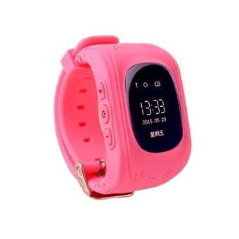 Retro Q50 (Malaysia OLED Version) Smart Phone Watch GPSAnti-LostKid Tracker, Support Local Sim Card & GPS Function(Rose) - intl