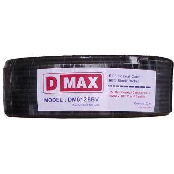Harga สาย RG6 Coaxial cable 90% (128) Black Jacket