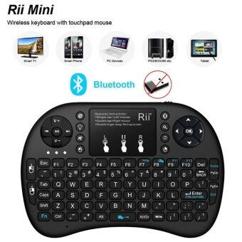 RII Mini I8+ BT Bluetooth Wireless Touchpad Keyboard with Backlight for Computer 122607952287 - intl