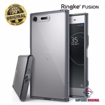 Ringke Fusionเคสกันกระแทกระดับ Military Grade ของแท้ สำหรับSony XZ Premium สีดำใส (Smoke Black)