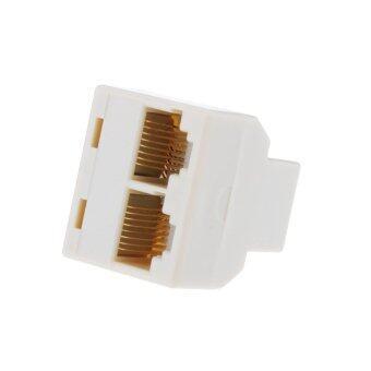 RJ45 Splitter 1 to 2 Way LAN Network Ethernet Adapter High Quality