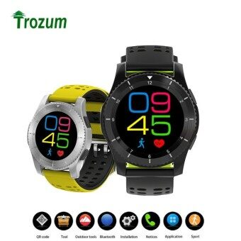 Round Smart Watch GS8 SIM Card Watch Phone Bluetooth Bracelet Pedometer Heart Rate Blood Pressure Sleep Monitor for IOS Android - intl