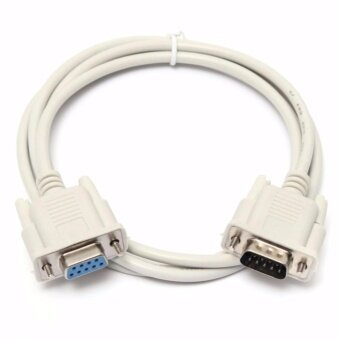 สาย RS232 9-Pin Male To Female DB9 9-Pin PC Converter Cable 1.8m