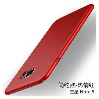 S amsung Galaxy Note 5 360 degrees Ultra-thin PC Hard shell phone case/Red - intl