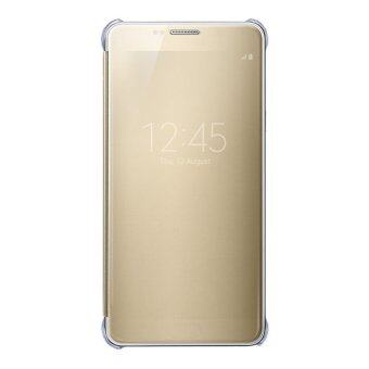S-View Flip Cover Clear View Cover Case for Samsung Galaxy Note 5(Gold) - intl - 2
