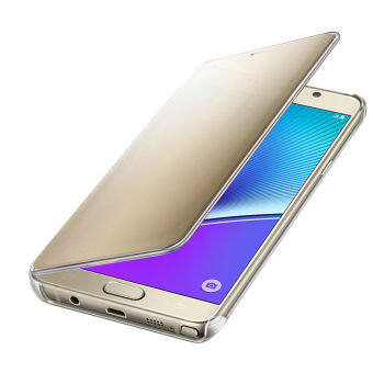 S-View Flip Cover Clear View Cover Case for Samsung Galaxy Note 5(Gold) - intl - 5
