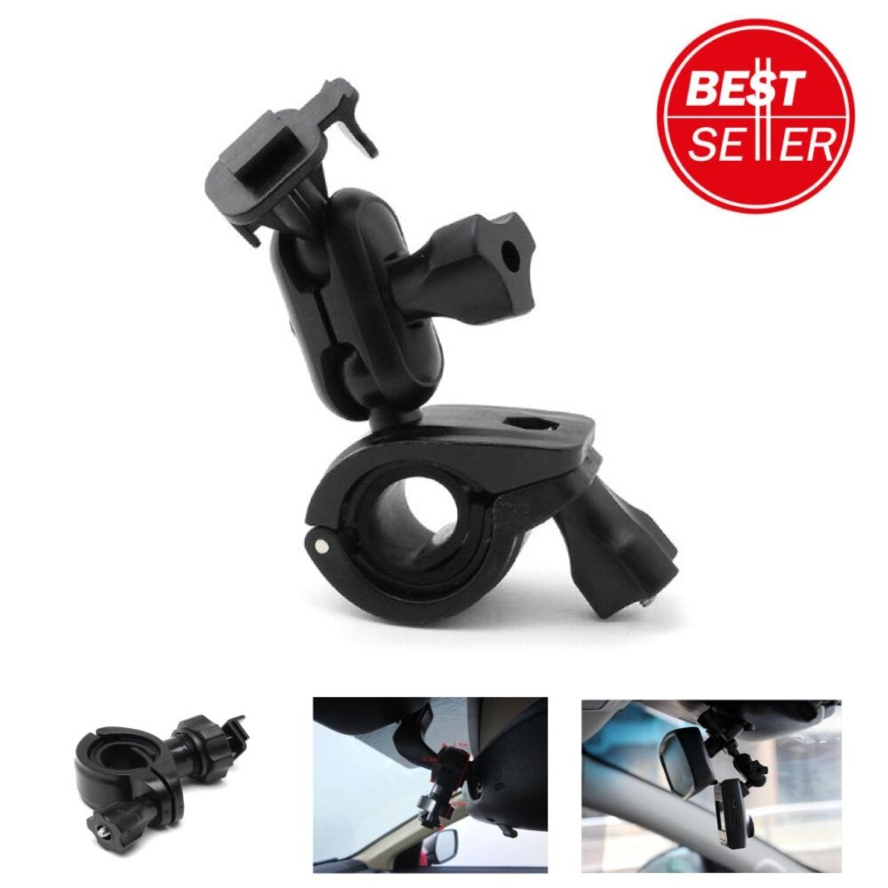 SALEup ขายึดกล้องติดรถยนต์ กับก้านกระจกมองหลัง ขาตั้ง กล้องบันทึกหน้ารถ หัวเหลี่ยม แบบสไลน์ สีดำ (STAND CAR CAMERA)