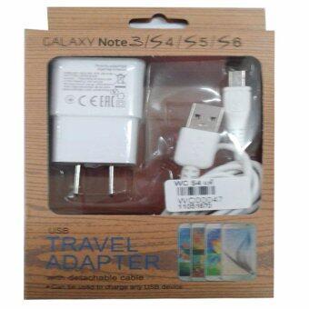 ประกาศขาย Samsung สายชาร์จSamsungหัวชาร์จ+สายSamsung Galaxy noet 3/S4/S5/S6 Micro USB Data Cable + Home Wall Charger (สีขาว)