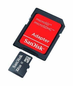 Sandisk เมมโมรี่การ์ด Micro SD SDHC MicroSD Memory Card Class 4 32GB (image 1)