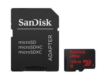SanDisk Ultra Micro 128GB SDXC UHS-I/Class 10 Card with Adapter (Black)