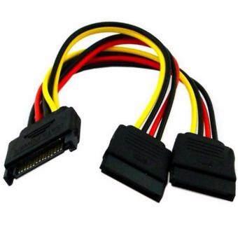 ซื้อ/ขาย SATA 15Pin Male to 2 SATA 15Pin Female Power Cable