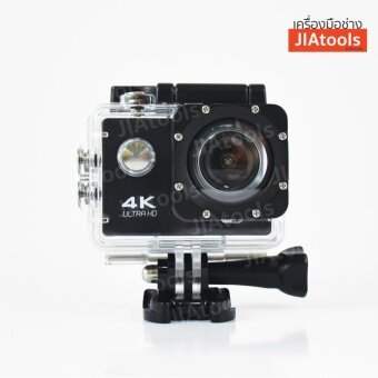SC4KE Wi-Fi กล้องติดรถยนต์ (รุ่น Wi-Fi) 4K Sports Ultra HD 1080P60FPS ติดหมวกกันน็อค Waterproof 30M Sports Cam ฟรี!อุปกรณ์เสริมกว่า 10ชิ้น กันน้ำได้ 30เมตร ใช้เป็นกล้องถ่ายรูปได้ช่วยบันทึก เหตุการณ์ต่างๆบนท้องถนน จักรยานยนต์ มอเตอร์ไซค์ จักรยาน