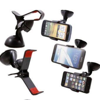 Shopvalue ขายึดโทรศัพท์มือถือกับกระจกรถ (Black) - 2