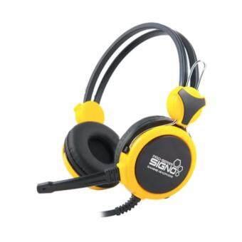 SIGNO หูฟัง คอมพิวเตอร์ รุ่น HP-800 (สีเหลือง)