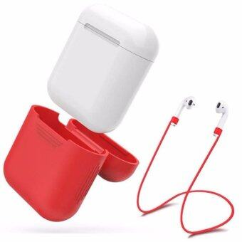 Silicone Protective Cover Case + Wire Anti Lost For AirPodsEarphones Headset anti-lost line +