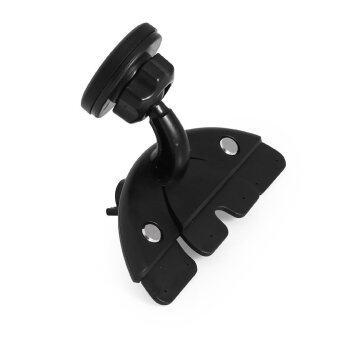 SINOKAL Universal Adjustable CD Player Slot Magnetic Mobile Phone Car Mount Holder (Black)
