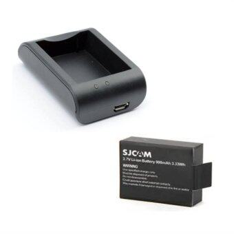 SJCAM Battery 900mAh + External Charger (Sj4000 , Sj5000)