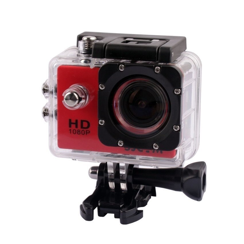 ข้อมูล SJCAM Original SJ4000 30M Waterproof Sports DV 12MP 1080P Action Camera Waterproof Diving HD Camcorder(Red) – intl เช็คราคา
