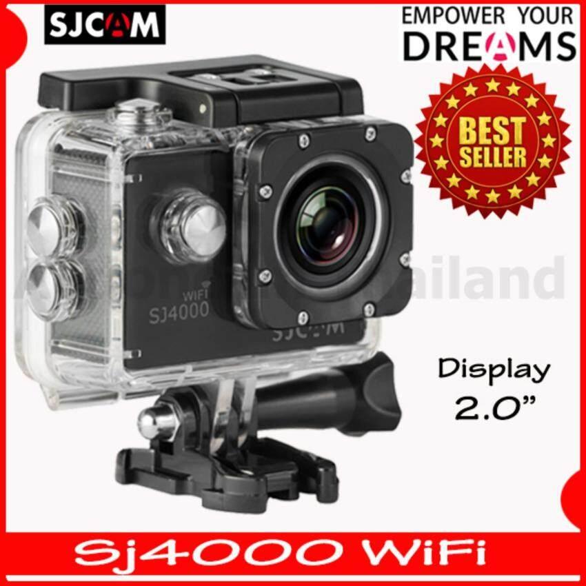 SJCAM SJ4000 Wi-Fi 12MP Model 2016เมนูไทย จอ2.0นิ้ว(Black)