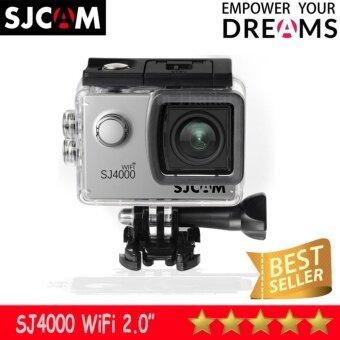 SJCAM SJ4000 Wi-Fi 12MP Model 2016เมนูไทย จอ2.0นิ้ว(Silver)