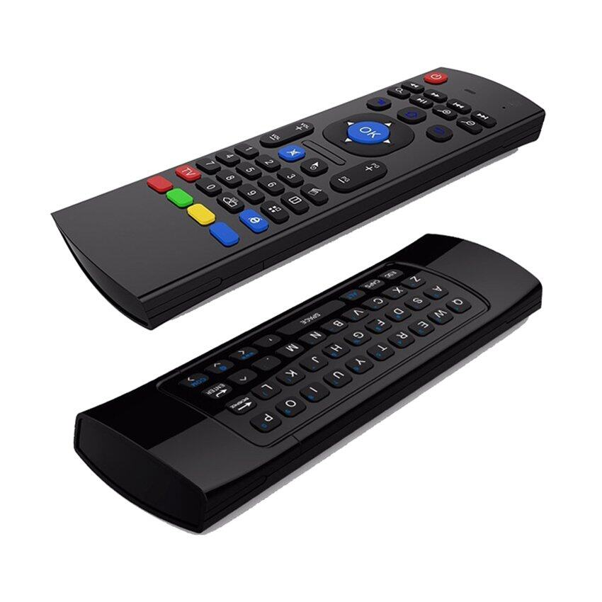 ทำบัตรเครดิตออนไลน์  ขอนแก่น Smart Android TV Box MX3 Airmouse Keyboared 2.4 G Wireless Support for Android TV Box and Computer (Black)