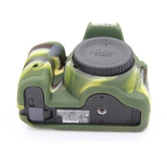 Soft Silicone Gel Rubber Camera Case Cover for NikonD5500/D5600(Green) - intl - 3