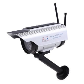 Solar Power Fake Dummy Outdoor Security Home CCTV Camera FlashingLED light- Intl
