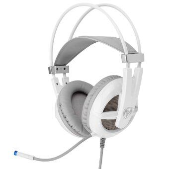 Somic G938 7.1 Virtual Surround Sound USB Gaming Headset with Mic Volume Control for PC (White)