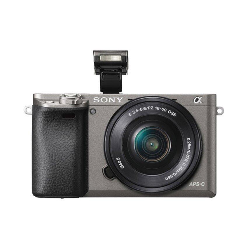 Sony กล้องดิจิตอล รุ่น A6000 KIT 16-50mm. สีเทา (ประกันร้าน EC-MALL)