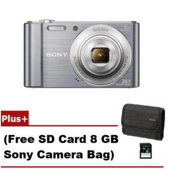 Sony Cyber-Shot รุ่น DSC-W810/S - Silver (Free SD Card 8 GB +Camera Bag