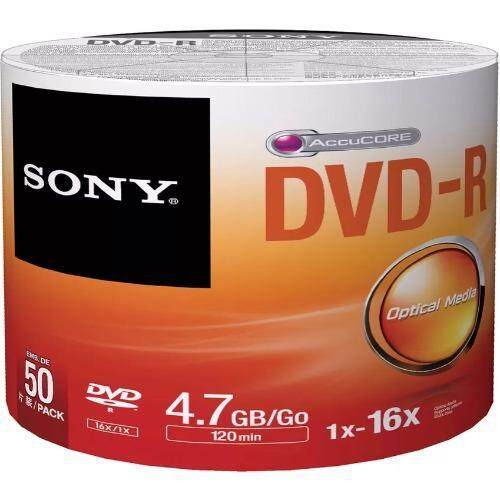 SONY DVD-R 4.7 GB/120 min (50แผ่น/PACK)