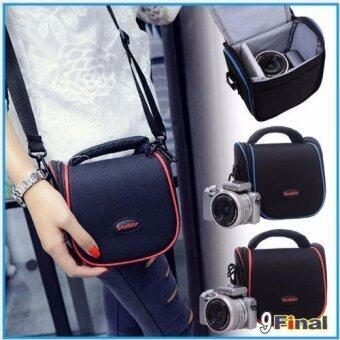 Soudelor BAG กระเป๋ากล้อง ดิจิตอล Digital / กล้อง Mirrorless รุ่น1204S ( สี ดำ-ลายเส้นแดง) (Black- Red) (Red)