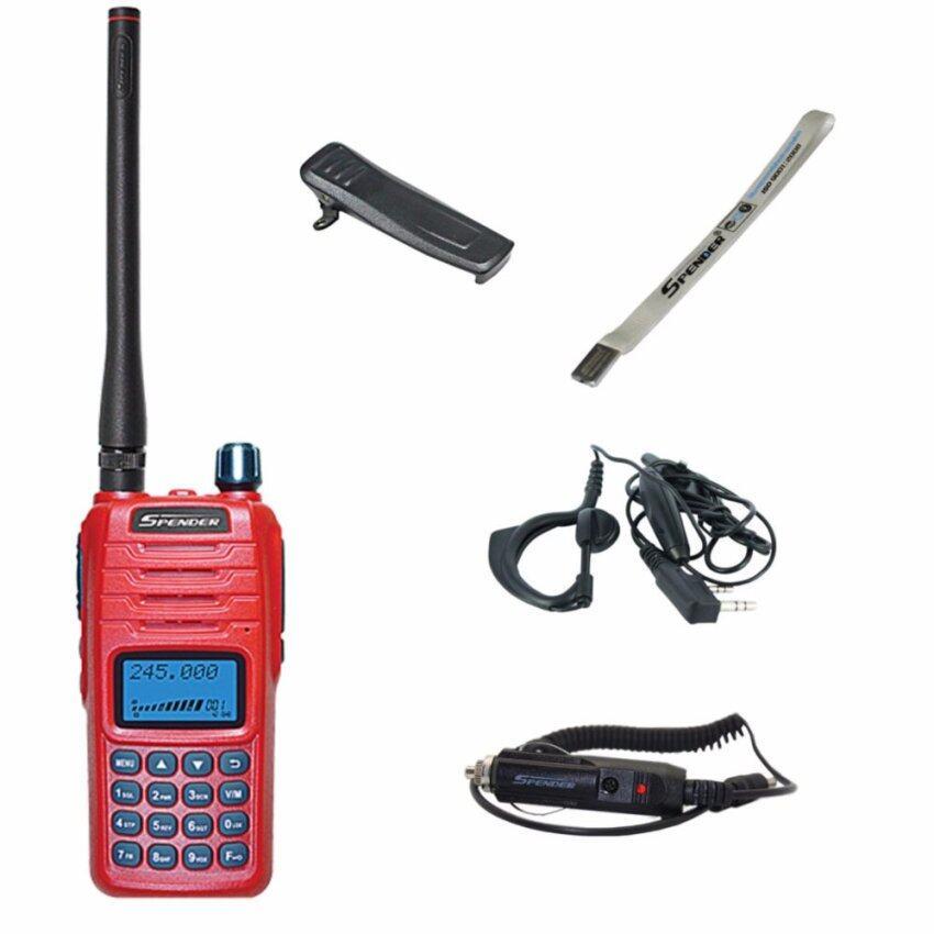 Spender วิทยุสื่อสาร อุปกรณ์ครบชุด TC-245HW 10 วัตต์+ ที่ชาร์จไฟในรถ + ไมค์หูฟัง ถูกกฎหมาย