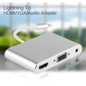 ประเทศไทย SUNWAYOriginal Lighting to HDMI/VGA/Audio Adapter for iphone5 5s 5c 6 6s 6 7 plus ipad Pro 9.7 \ipad Pro 12.9\ipad air2 ipad air