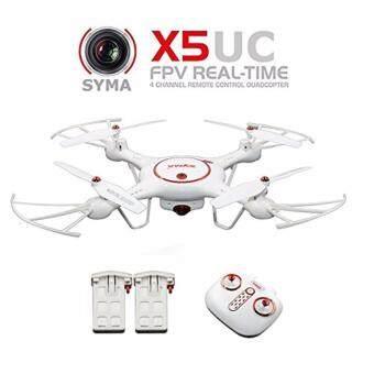 SYMA X5UC 2.4G Remote Control FPV Quadcopter - 2 Batteries WHITE\n(2017) / โดรนติดกล้องถ่ายภาพ