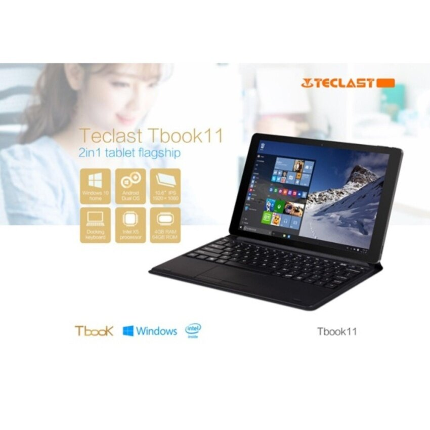 Teclast Tbook 11 Ultrabook Dual OS Quad Core 4GB64GB, Free Keyboard  micro SD32G