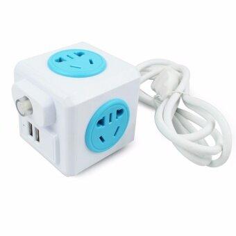 เปรียบเทียบราคา Telecors Power cube ปลั๊กไฟทรงลูกเต๋า ปลั๊ก 3ตา USB 2Port สายยาว1.5 เมตร รุ่น AC-AP1