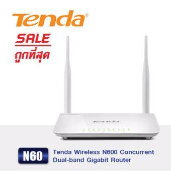 Tenda Wireless N600 Concurrent Dual-band Gigabit Router รุ่น N60
