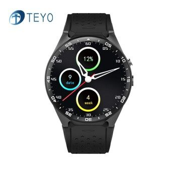 Teyo Smart Watch KW88 Heart Rate Monitor Pedometer Music ROM 4GB + RAM 512MB Camera SIM GPS Wifi Smat Watch for Android and IOS - intl