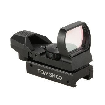 TOMSHOO 1X22X33 Red Green Dot Sight Scope 4 Reticles Reflex Sight with 20mm Rail - intl