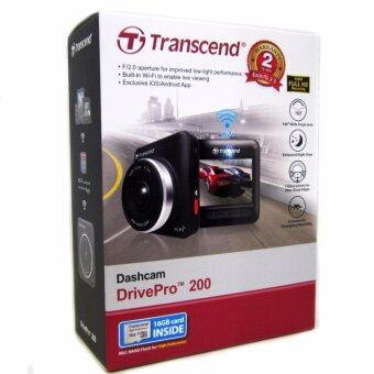 Transcend DP200 (DrivePro 200) Dashcam CAR RECORDER + Free Transcend MicroSD 16gb Class 10