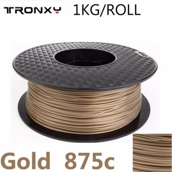 Tronxy PLA Filament best 3d filament for homemade 3dprinter1.75MM/1KG/ROLL/Color Gold - intl